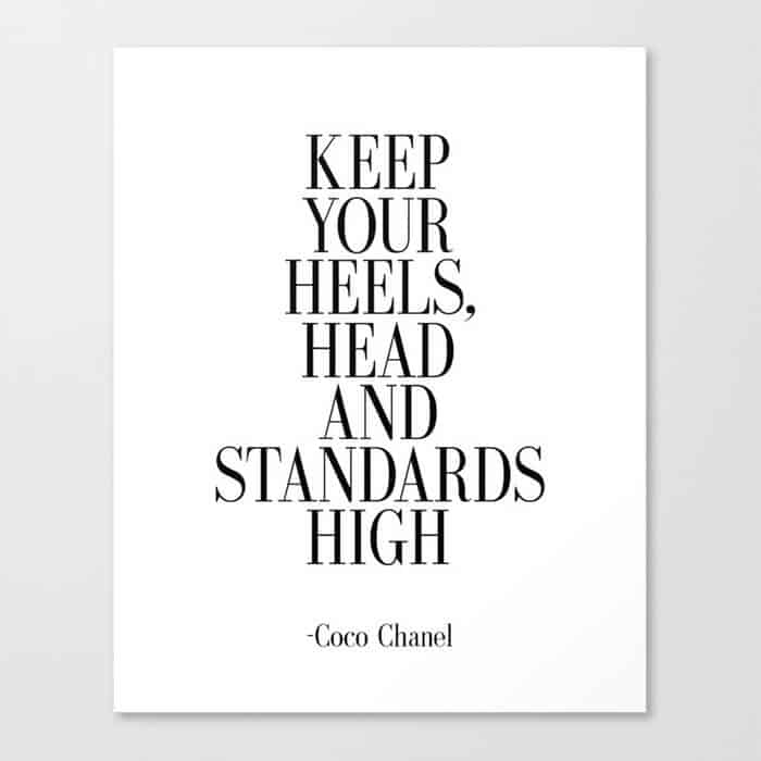 keep your heels head and standards high592259 canvas