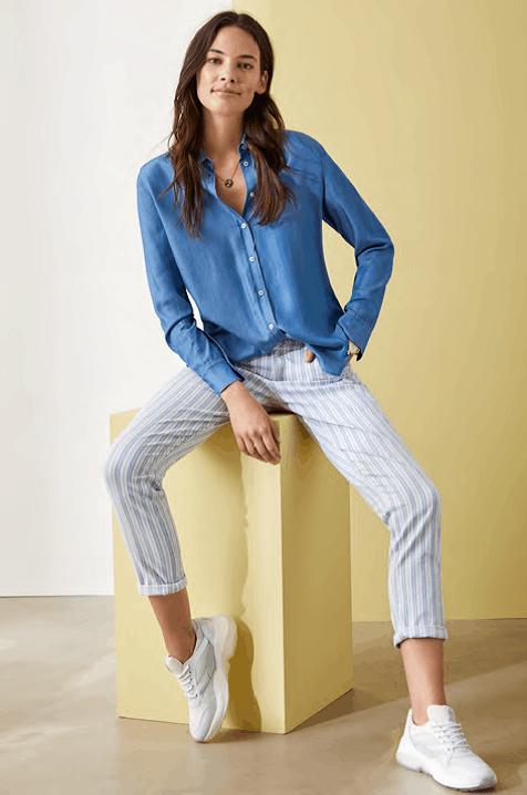 jeansbloes op streep 78 pantalon brax tineb oudenaarde damesmode