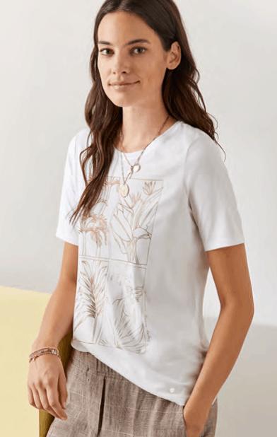 wit shirt met dessin detail brax tineb oudenaarde damesmode