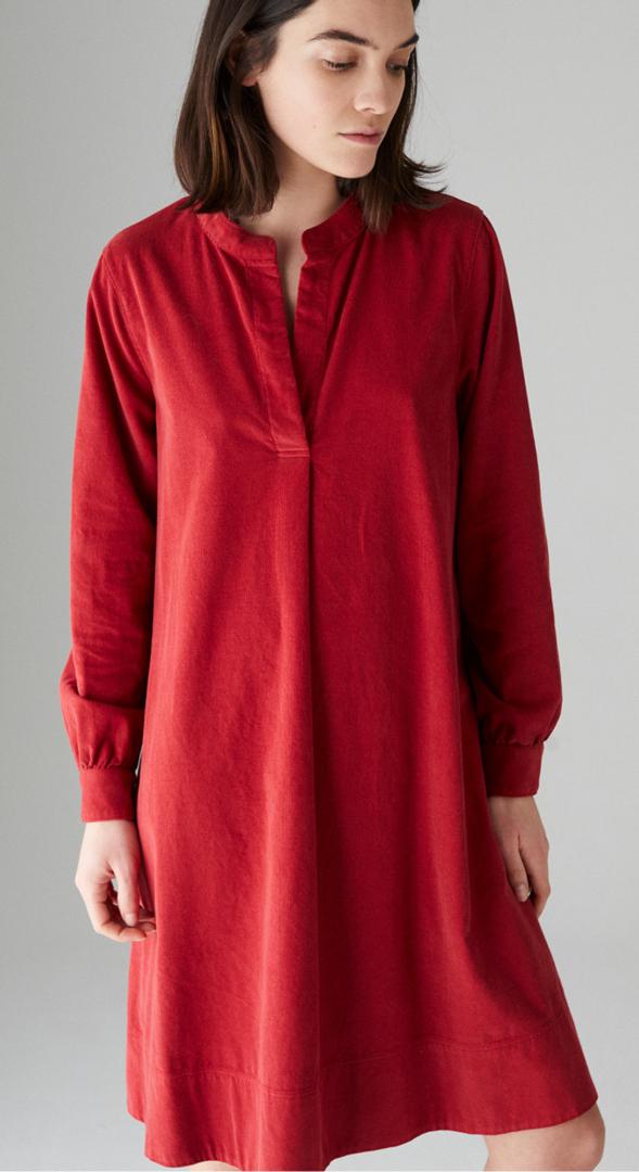 steenrode jurk fluweel rosso35 41 tineb oudenaarde damesmode