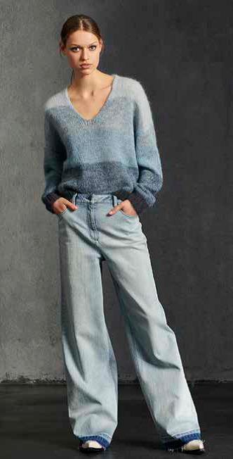 streep vhalstrui uitlopende jeans luisa cerano 20 tineb oudenaarde damesmode