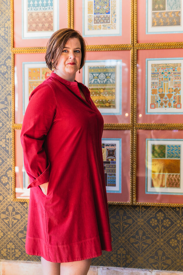 jurk rood fluweel rosso35 138 tineb oudenaarde damesmode